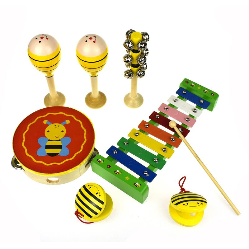 Kaper Kidz Bee 7 Piece Musical Set Contents