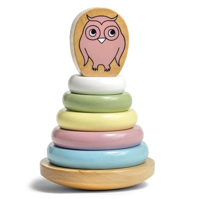 Micki Pastel Stacking Owl