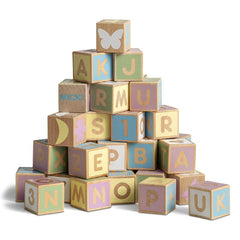 Pastel Alphabet Blocks