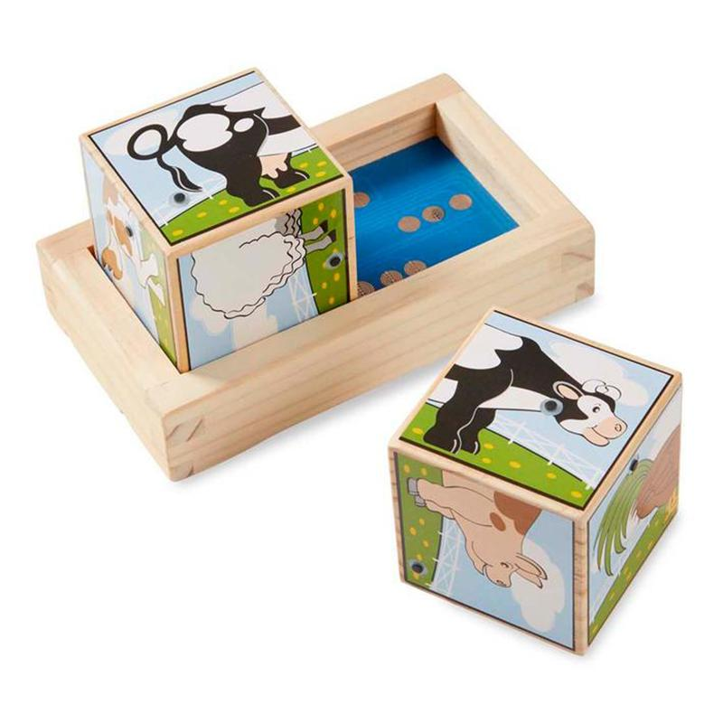 Melissa & Doug Sound Blocks Puzzle Farm