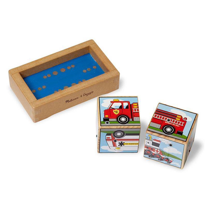 Melissa & Doug Sound Blocks Puzzle Vehicles