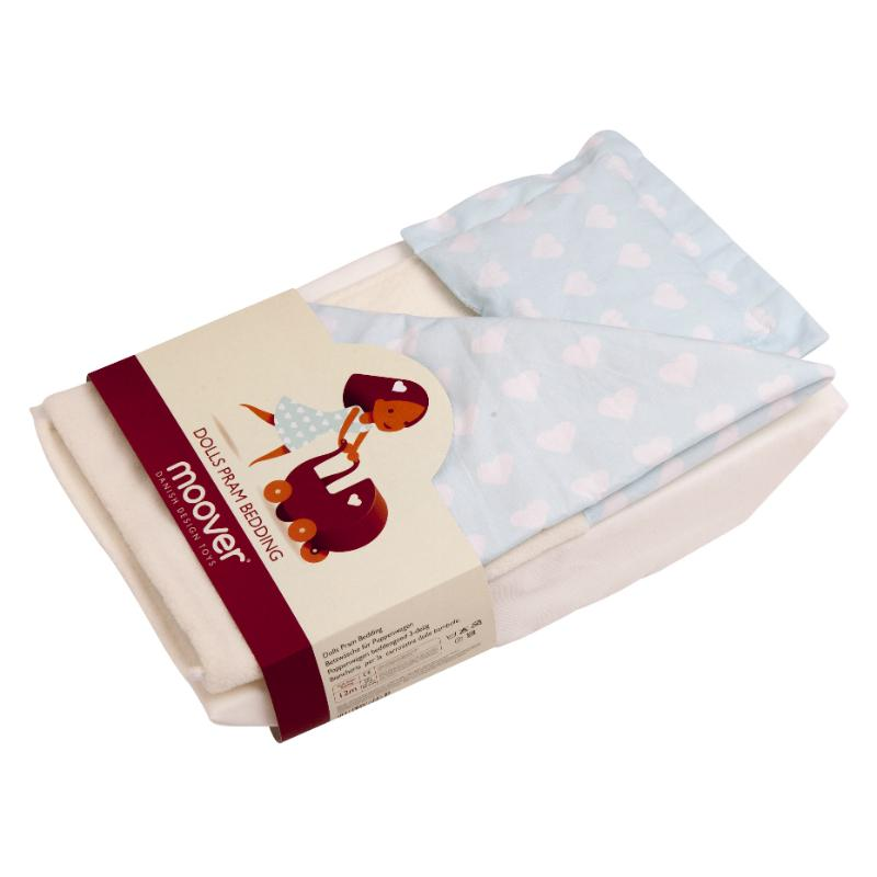 Moover Dolls Pram Bedding - Light Blue