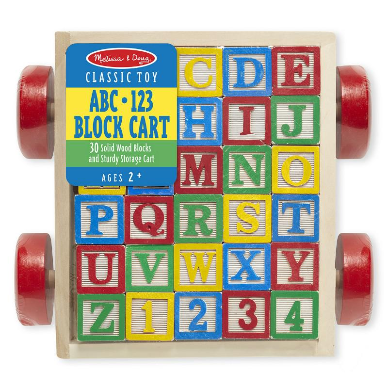Melissa & Doug ABC123 Block Cart
