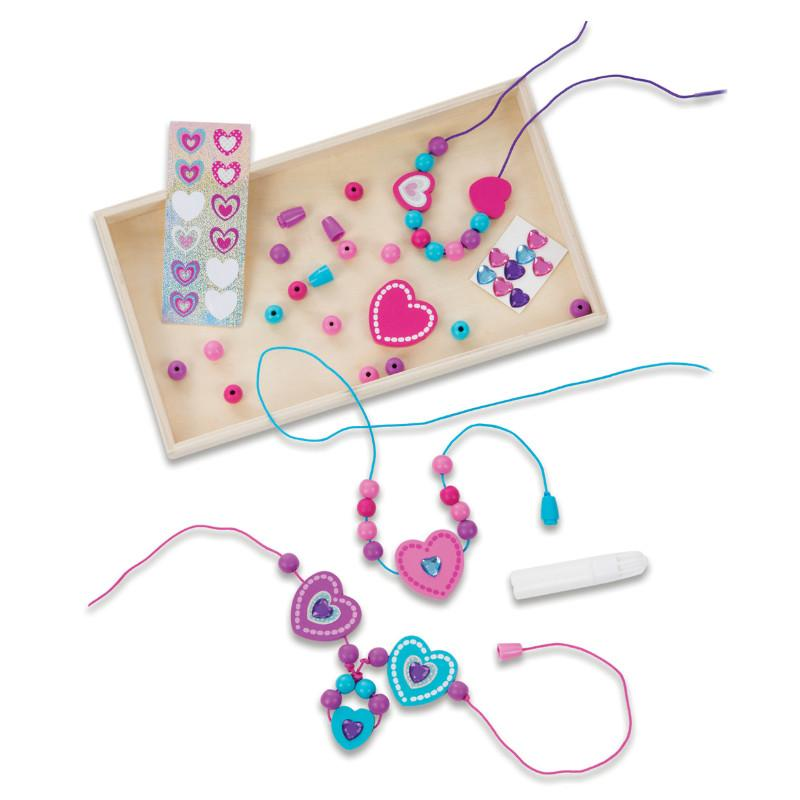 Melissa & Doug Decorate Your Own Heart Bead Set