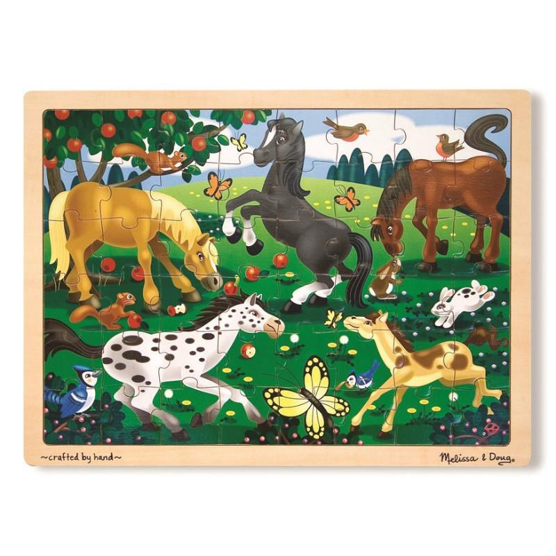 Melissa & Doug Frolicking Horses Jigsaw - 48pc