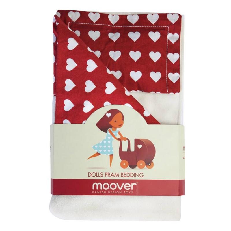 Moover Dolls Pram Bedding - Red