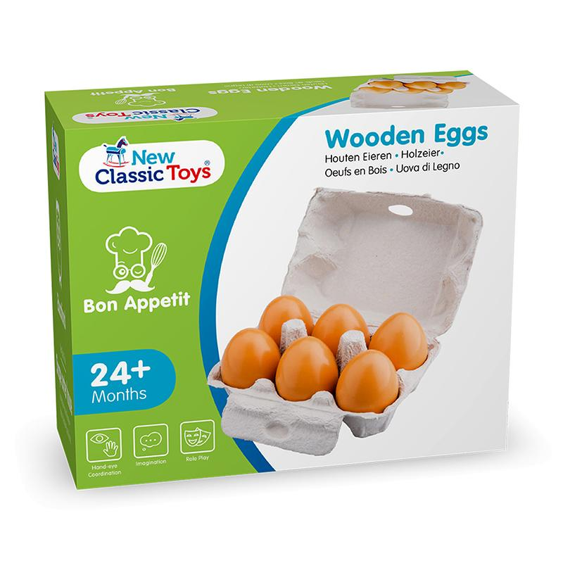 New Classic Toys Wooden Eggs