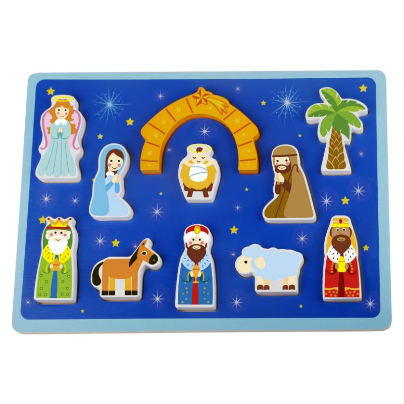 Tooky Toy - Chunky Puzzle - The Nativity