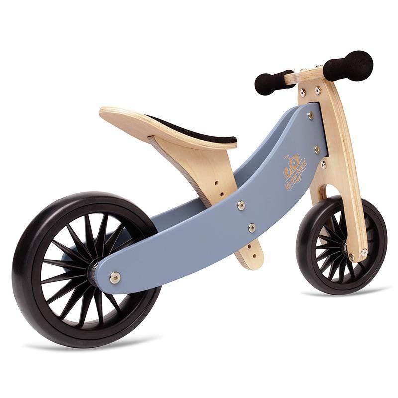 Kinderfeets Tiny Tot PLUS - Slate Blue 2-in-1 Balance Bike and Trike