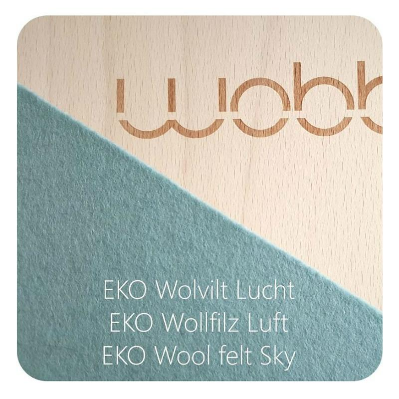 Wobbel Board Original with Felt - Sky Blue