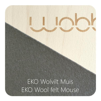 Wobbel Board Original with Felt - Mouse