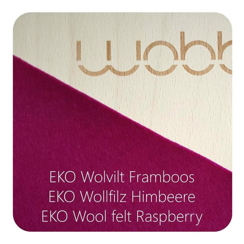 Wobbel Board Original with Felt - Raspberry