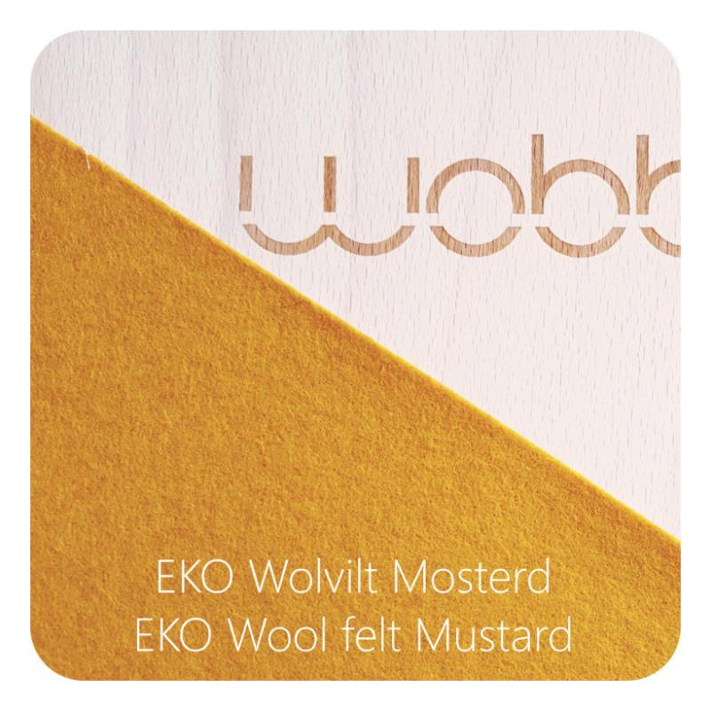 Wobbel Board Original with Felt - Mustard