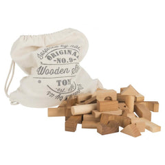 100 Blocks in Cotton Sack - Natural