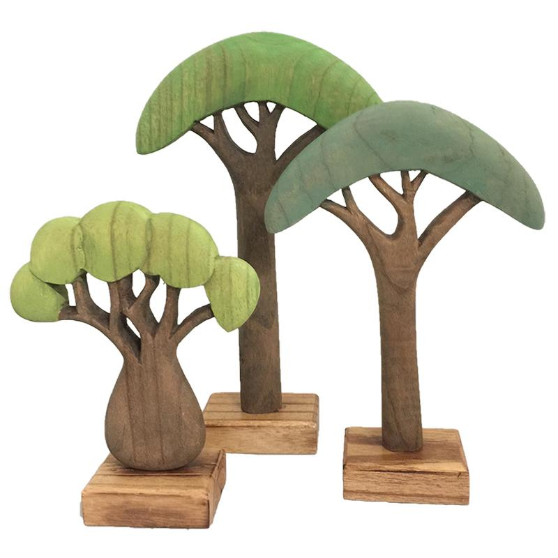 Papoose African Trees Coloured 3 Pieces