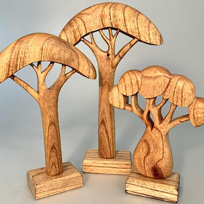 African Trees Natural 3 Pieces