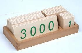 Large Wooden Number Cards With Box (1-3000)