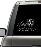 STAY GOLDEN - vinyl decal