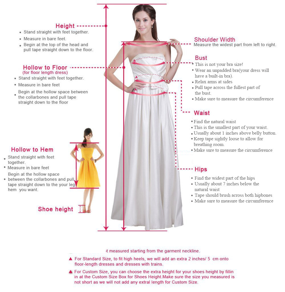 prom dresses measure guide | amyprom.com