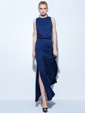 Chic Royal Blue Prom Dresses Long Simple Prom Dress Party Dresses 270791