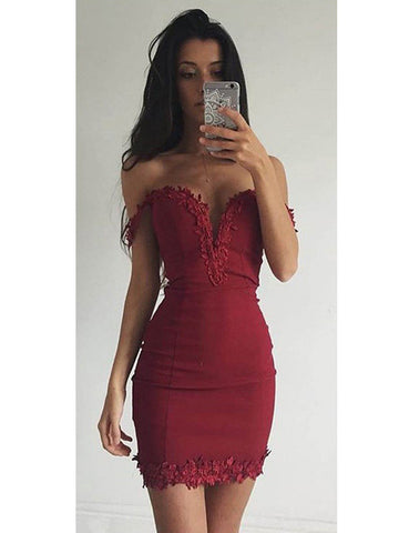 2017 Coctail Dress, Sexy Off-the-shoulder Short Prom Dress Party Dress MK584