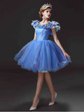 Chic Scoop Homecoming Dress Simple Blue Quinceanera Cheap Short Prom Dress AM063