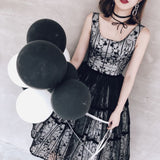 Chic Black Homecoming Dress Scoop Simple Tulle Cheap Short Prom Dress AM068