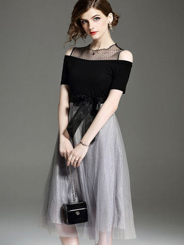 Chic A-line Scoop Homecoming Dress Modest Black Cheap Short Prom Dress AM071