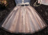 2017 Chic Homecoming Dress Sweetheart Ruffles Bowknot Tulle Short Prom Dress AM134