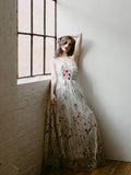 A-line Sweetheart Prom Dress Floor Length Lace Beautiful Prom Dresses Long Evening Dress AMY1110