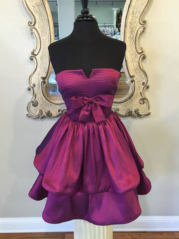 2018 A-line Sweetheart Short/Mini Homecoming Dress Grape Short Prom Dress AMY1274