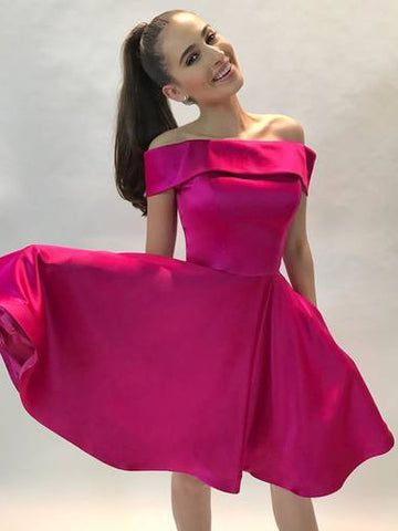 2018 A-line Off-the-shoulder Short Prom Drsess Homecoming Dresses AMY1281