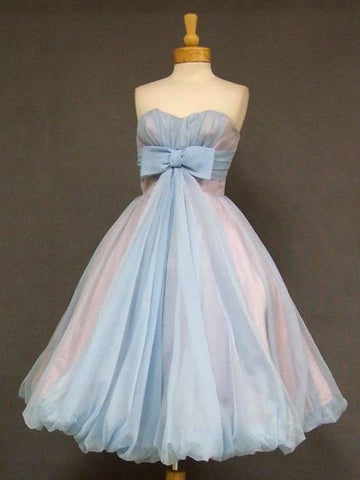 2018 A-line Sweetheart Tea Length Homecoming Dress Vintage Short Prom Dress AMY1293