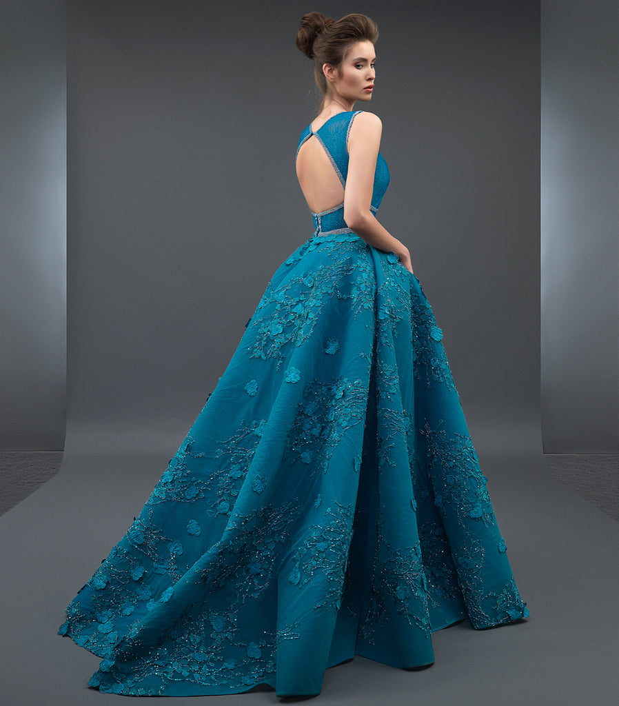 e1ad6aa780d9c Dark Blue Evening Dresses With Sleeves