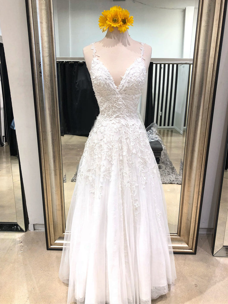 2018 White Prom Dresses A-line Spaghetti Straps Custom Long Prom Dresses Evening Dress|Amyprom
