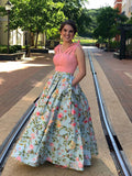 2018 Prom Dresses A-line Straps Custom Long Prom Dresses Evening Dress|Amyprom