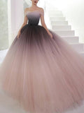 Off-the-shoulder Ombre Prom Dresses Unique Prom Dress Long Evening Dresses|Amyprom