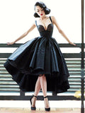 Chic Black Prom Dress High Low Prom Dresses Party Evening Dress AMY1936