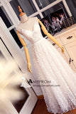 Vintage Lace Prom Dress Spaghetti Straps Long Prom Gowns Elegant Evening Gowns AMY2205
