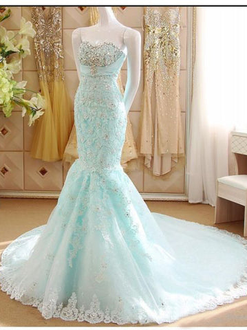 2018 Chic Trumpet/Mermaid Sweetheart Long Prom Dresses Lace Prom Dress Evening Dresses AMY2234