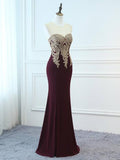 2018 Chic A-line Trumpet/Mermaid Long Prom Dresses Applique Prom Dress Long Evening Dresses AMY2292