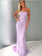 2019 Trumpet/Mermaid Spaghetti Straps Prom Dresses Lace Lilac Long Prom Dress Evening Dress AMY2452