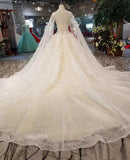Champagne High Neck Ball Gown Wedding Dresses Beaded Sparkly Cap Sleeve Quinceanera Dresses AMY2536