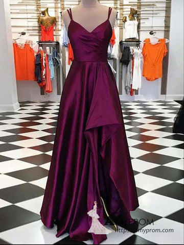 Chic A-line Straps Simple Long Prom Dress Gorgeous Prom Dress Evening Gowns Formal Dress AMY3050