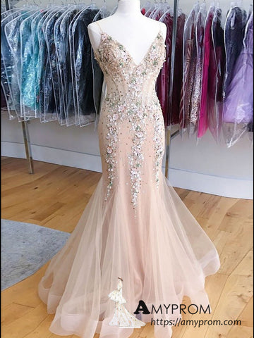 trumpet-mermaid-spaghetti-straps-beaded-prom-dress-formal-gowns-elegant-evening-dress-amy3130
