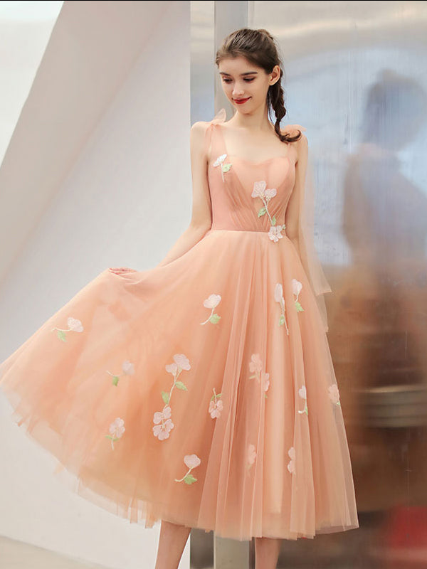 d6a92660dbf0 ... Tea Length A-line Cute Prom Dress Sweet 16 Beautiful Long Formal Dress  #AMY3227 ...