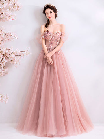 Chic A-line Off-the-shoulder Beautiful Prom Dress Unique Long Formal Gowns #AMY3221|Amyprom