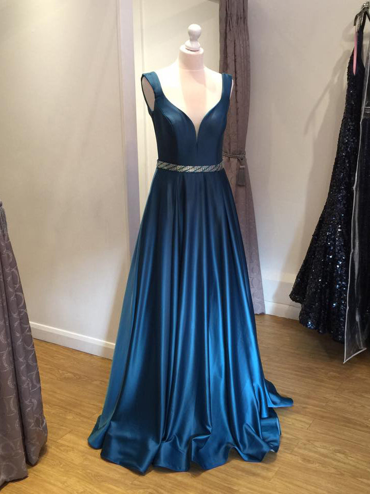2018 A-line Prom Dresses Long Straps Cheap Prom Dress Evening Dresses AMY349