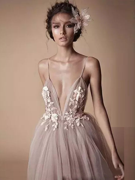 Long a Line Prom Dress with Straps Style