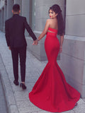 2018 Chic Mermaid Prom Dresses Sweetheart Red Long Prom Dress Evening Dresses AMY513